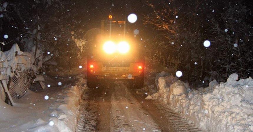 Tokat'ta 33 köy yolu ulaşıma kapalı