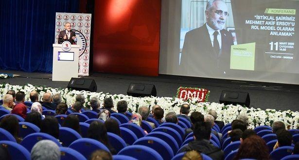 Topçu, OMÜ'de Mehmet Akif'i anlattı