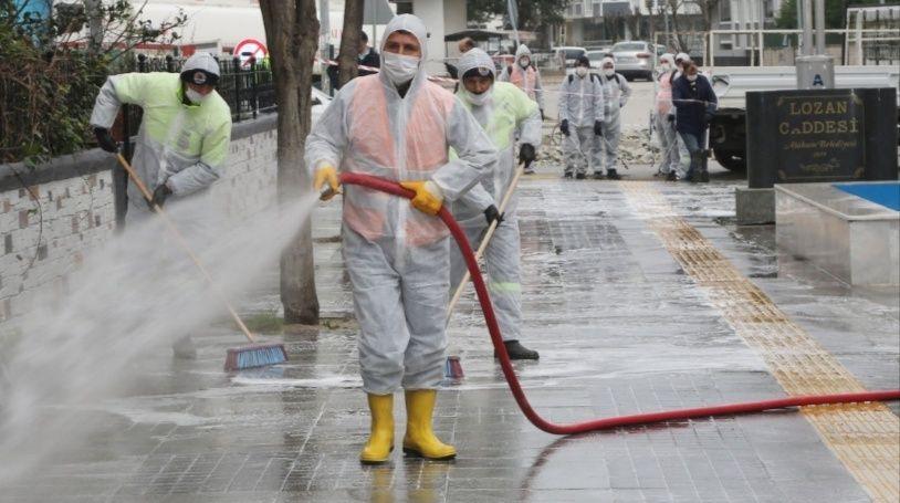 Atakum'da sokaklar yıkandı