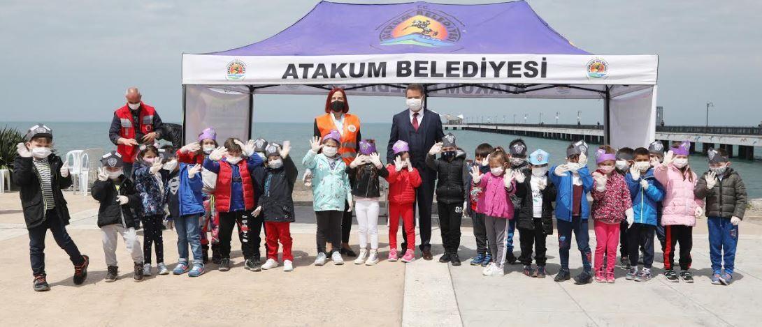 Atakum'da sahil temizliği