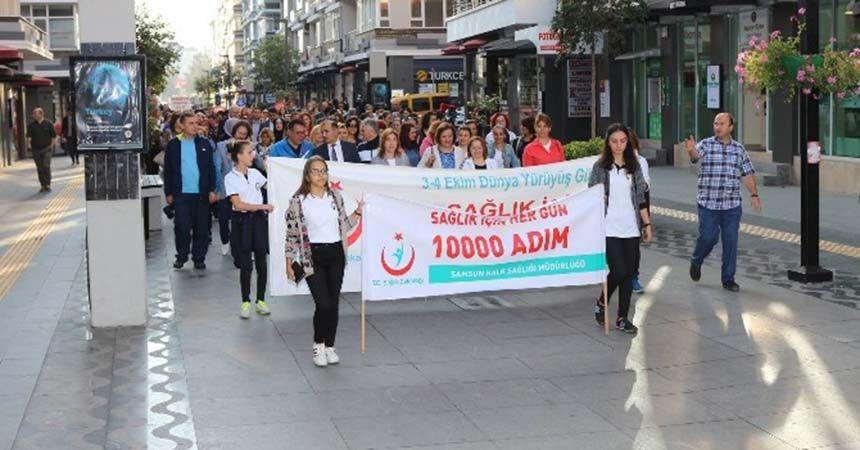 Samsun'da Dünya Yürüyüş Günü etkinliği