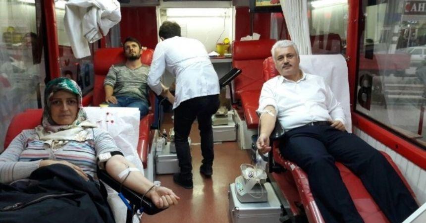 Alaçam'da kan bağışı kampanyası