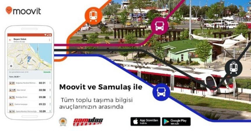 Moovit toplu taşıma uygulaması Samsun'da
