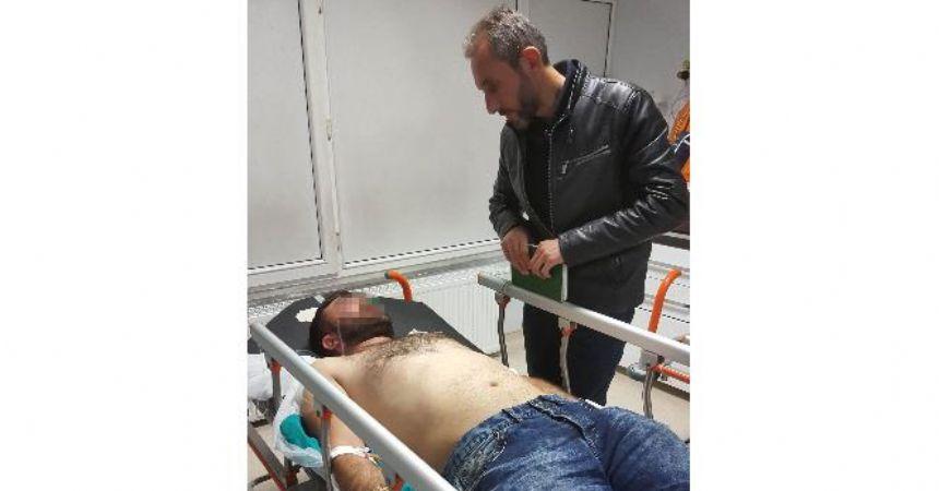 Bıçaklı saldırı hastanelik etti