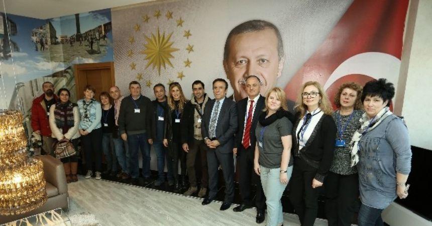 Başkan Genç, yabancı eğitimcileri ağırladı