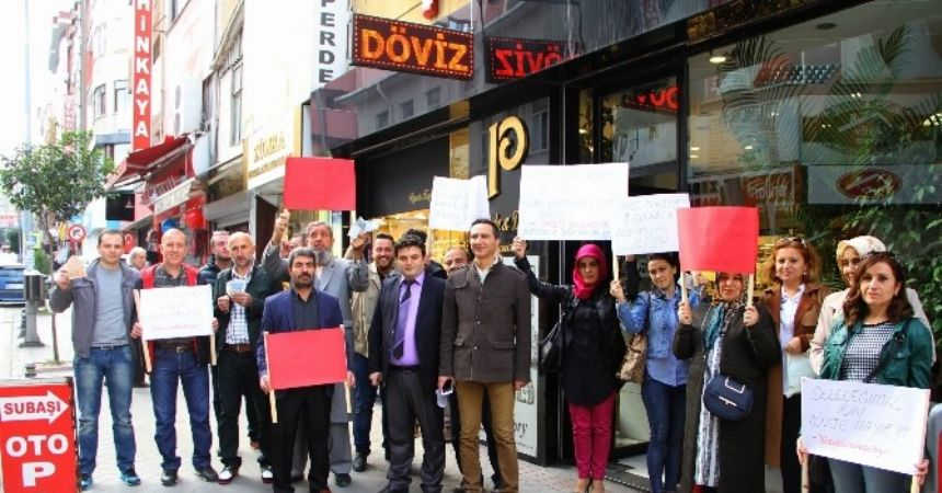 Samsun'da dolar protestosu