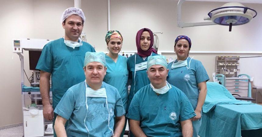 Bu ameliyat Rize'de ilk kez 'kapalı' yapıldı