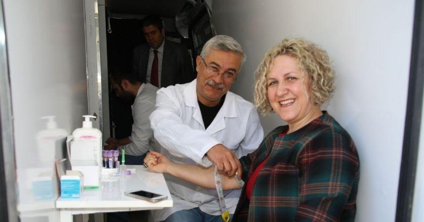 Bafra Belediyesi çalışanlarına sağlık taraması