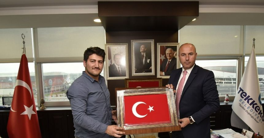 15 Temmuz gazisinden Başkan Togar'a hediye