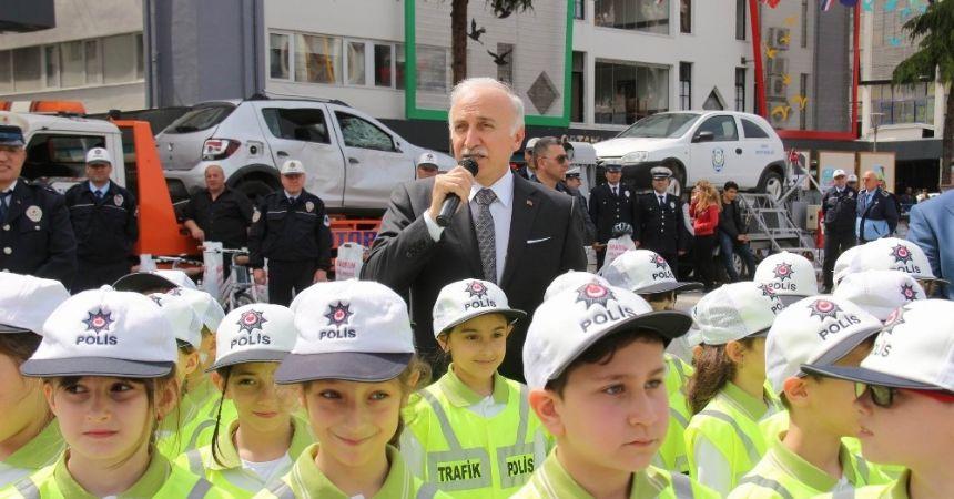"""Samsun'da """"Trafik Haftası"""" etkinlikleri"""