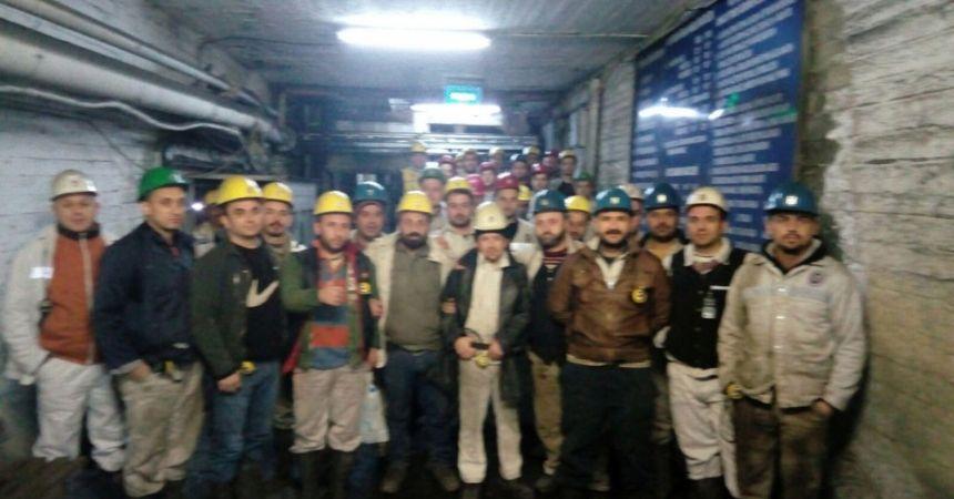 Madende eylem devam ediyor