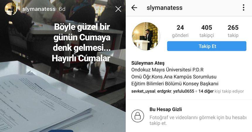OMÜ'de Atatürk'e büyük saygısızlık