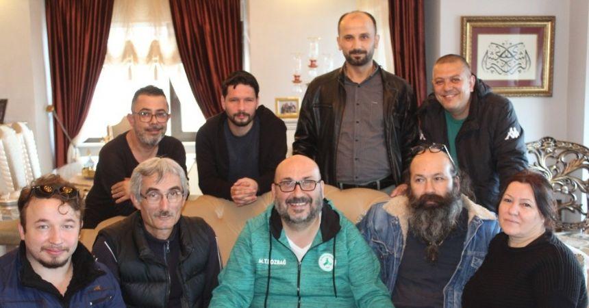 Başkan Bozbağ'a geçmiş olsun ziyareti