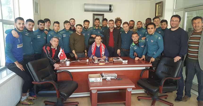 Havza Belediyespor'dan teşekkür ziyareti