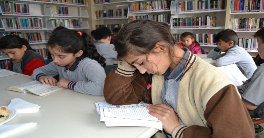 Alaçam'da kütüphane etkinliği
