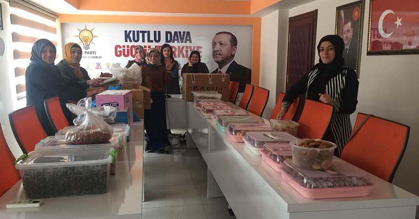 AK Partili kadınlardan mehmetçiklere destek