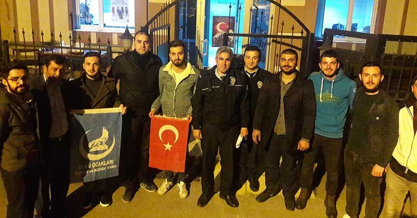 Canik Ülkü Ocakları'ndan polis teşkilatına ziyaret