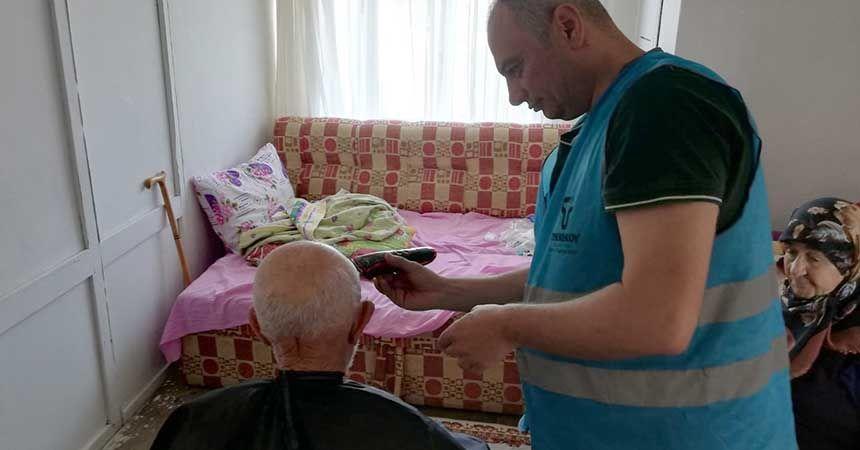 Tekkeköy Belediyesi'nden evde kuaförlük hizmeti