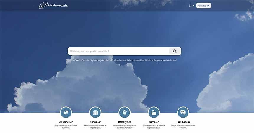 e-Devlet'te yeni hizmetler