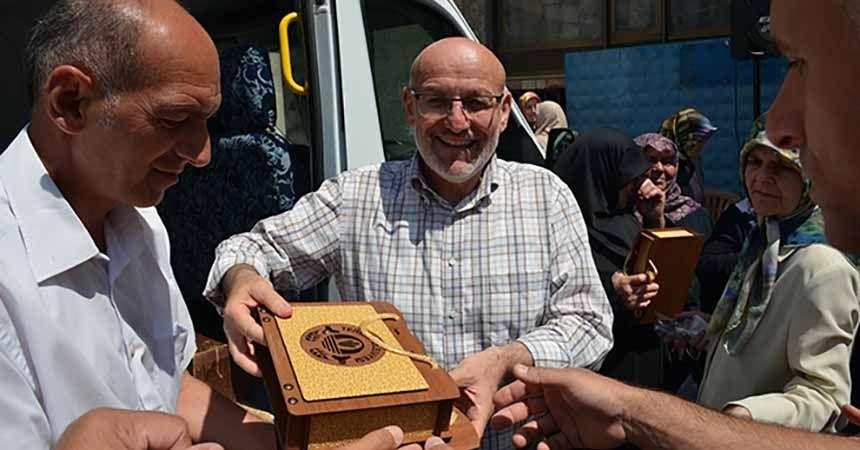 Başkan Kul Hacı adaylarını uğurladı