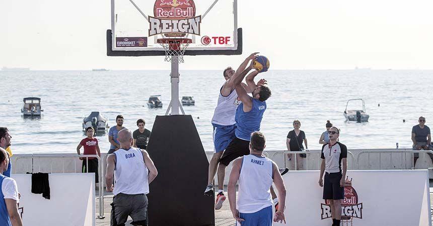 Samsun'da sokak basketbolu heyecanı