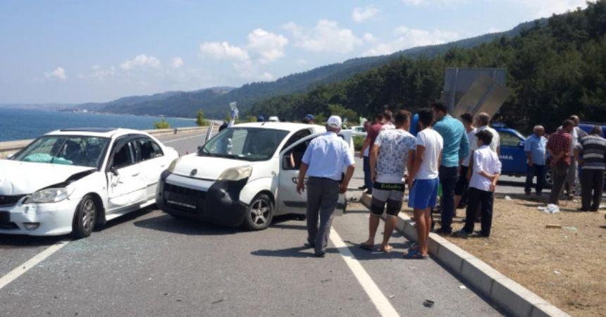 Çamgölü'nde kaza:8 yaralı