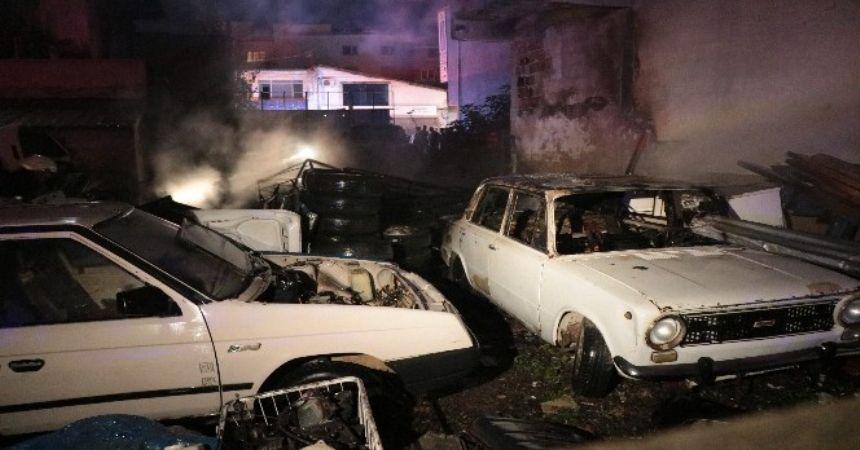 Hurdalık yangını evleri kül etti