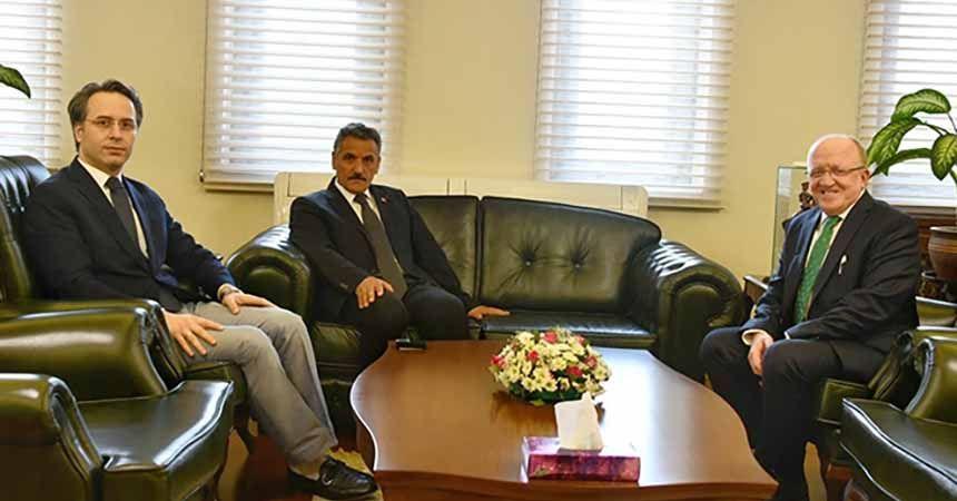 Rektör Aydın'dan Kaymak'a ziyaret