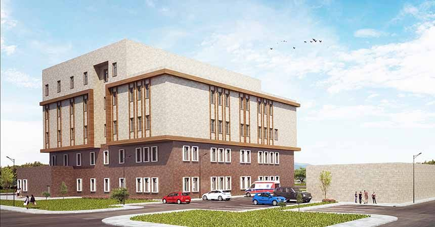 Yeni hastanenin yer teslimi yapıldı