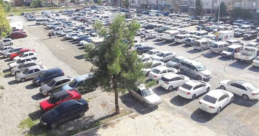 Bafra'da ücretsiz otopark dönemi