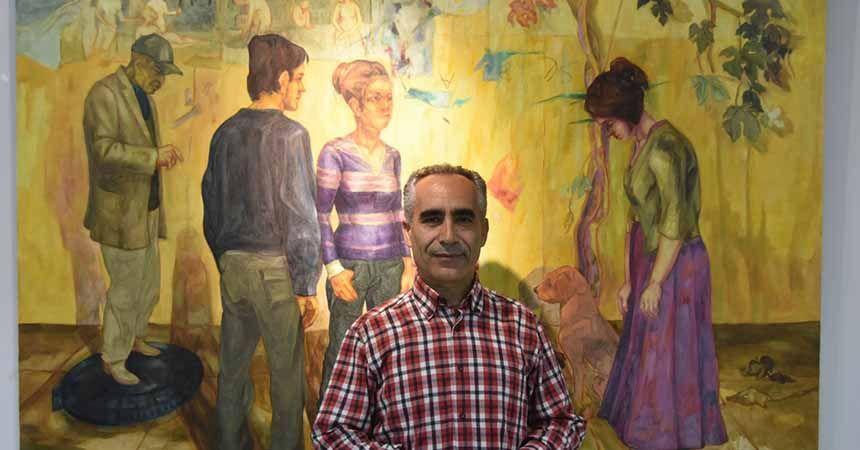 Murat Ağçiçek'in resim sergisi açıldı