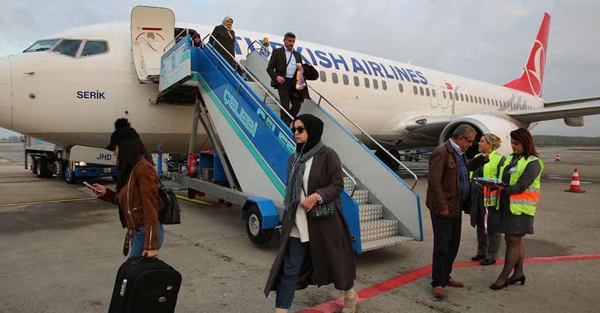 Havalimanını 9 ayda 1,3 milyon yolcu kullandı
