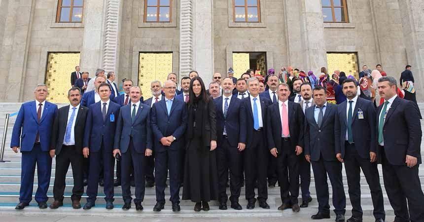 AK Parti ilçe başkanları TBMM'de
