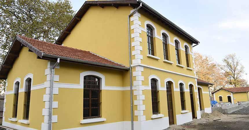 Tarihi Gar binaları tamamlandı