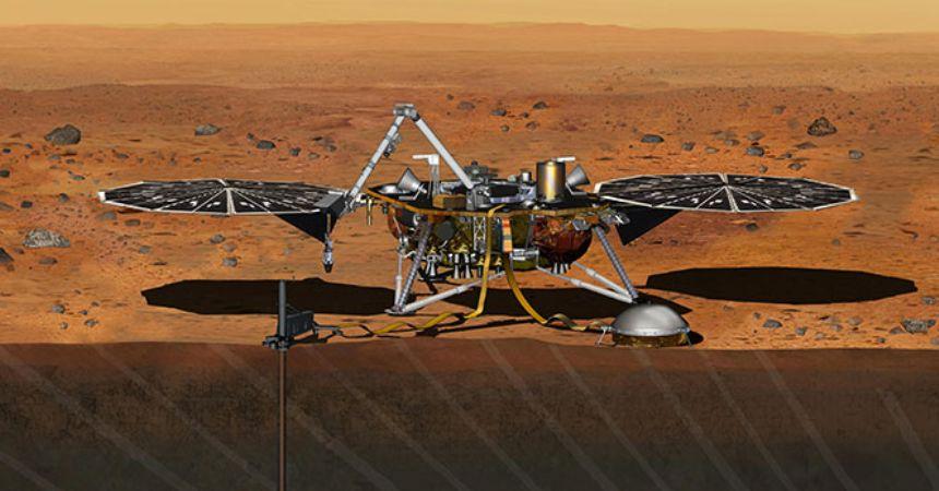InSight Mars'a indi