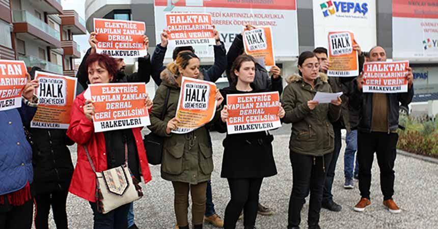 YEPAŞ'a zam protestosu