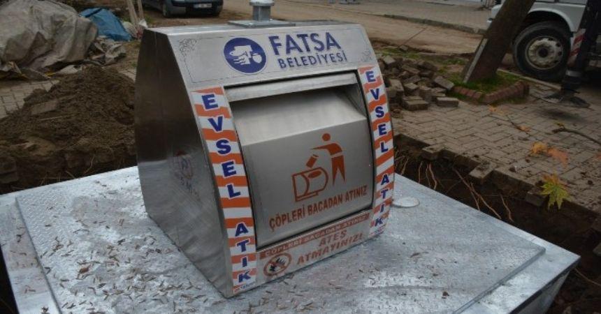 Fatsa'ya yer altı konteynırı