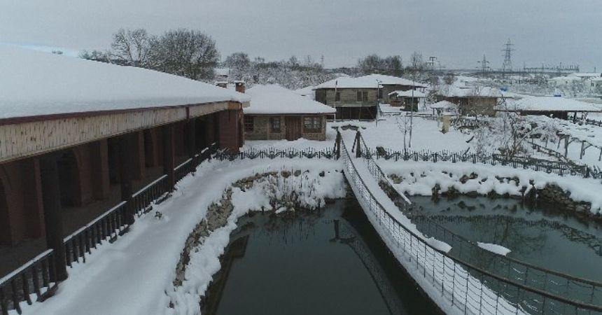 Anbarköy kar altında