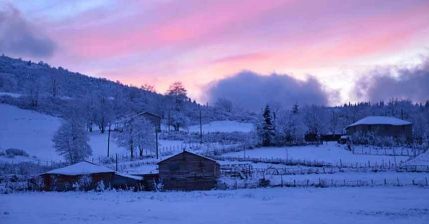 Yayladan kar manzaraları