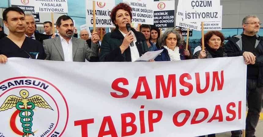 Tabip Odası'ndan saldırı protestosu