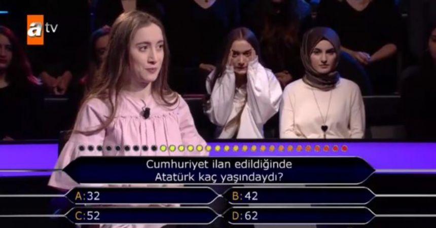 Atatürk sorusuna iki joker birden istedi!