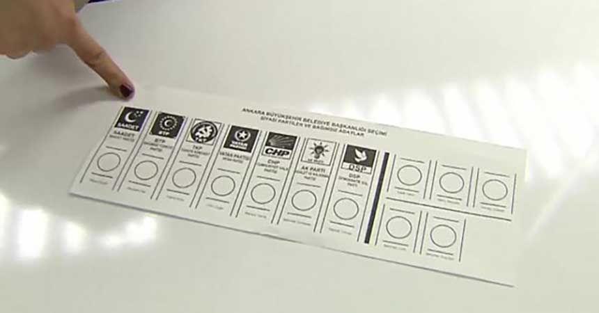 İşte 31 Mart'ta kullanılacak oy pusulası!