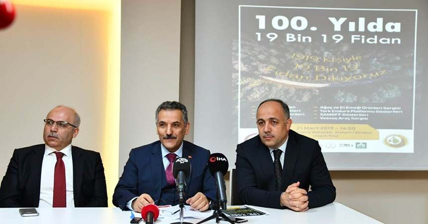 100. Yıl'da 19 bin 19 fidanlık Kurtuluş Ormanı