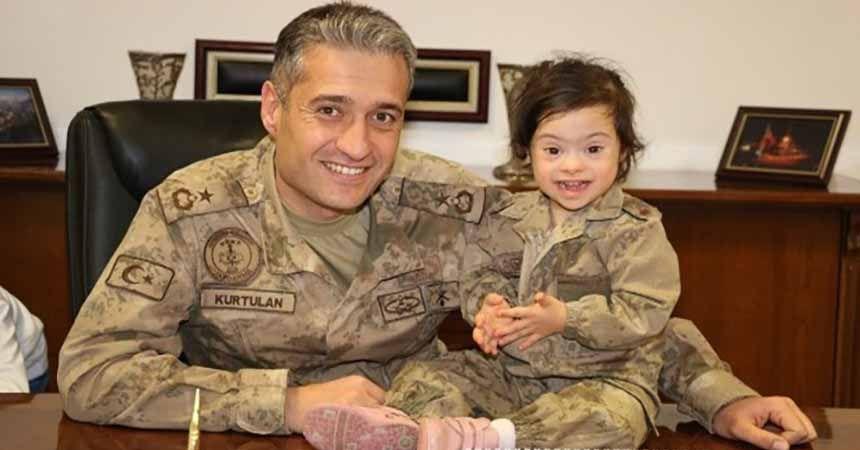 Down sendromlu çocuklardan Jandarma ziyareti