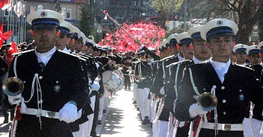 Samsun Çanakkale şehitleri için yürüdü