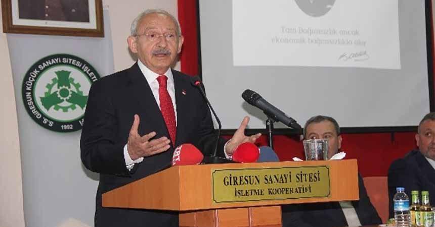 CHP Genel Başkanı Kılıçdaroğlu Giresun'da