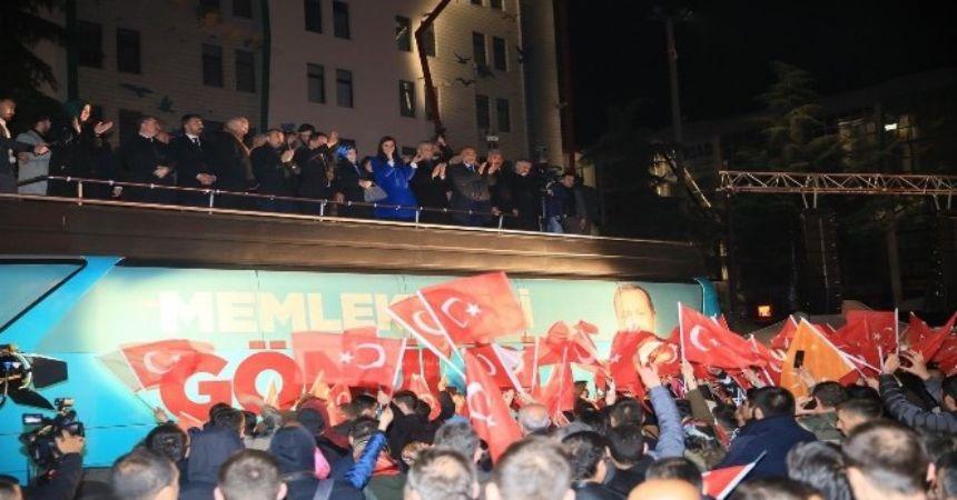 Cumhur ittifakından meydan kutlaması