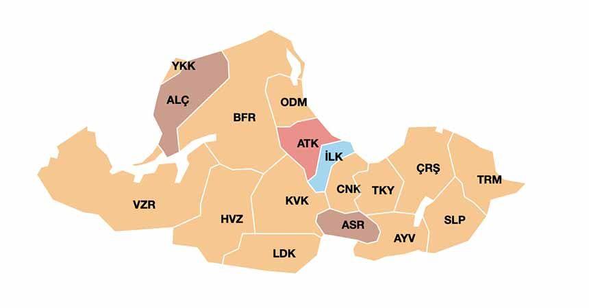 İlçelerin meclis üyeleri dağılımı belli oldu