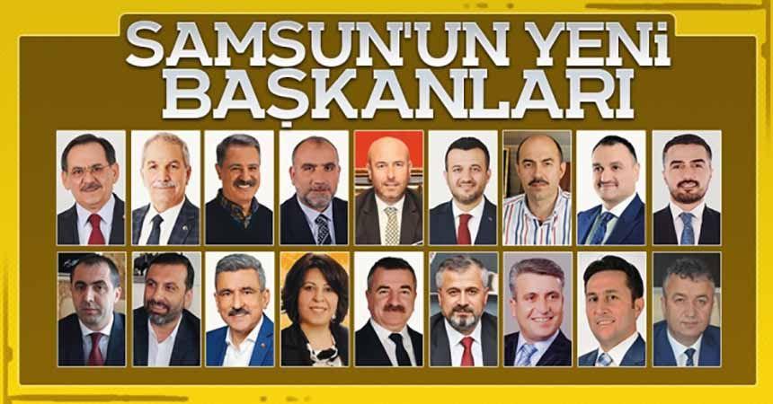 İşte Samsun'un yeni başkanları