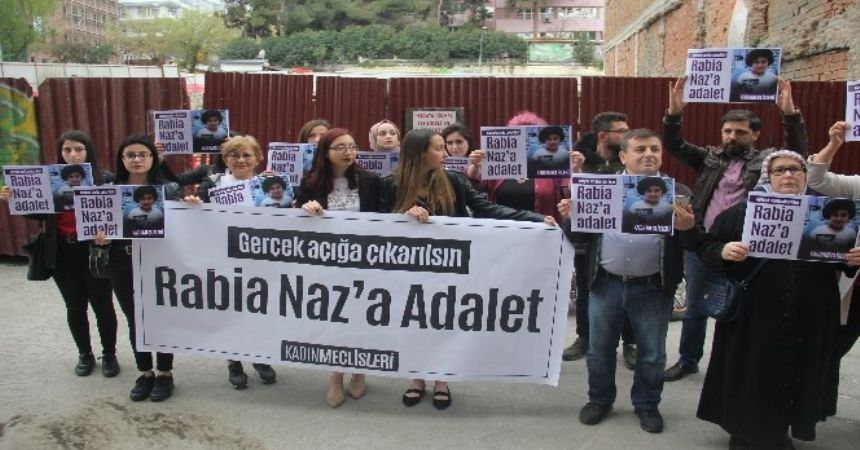 Rabia Naz için Samsun'da eylem